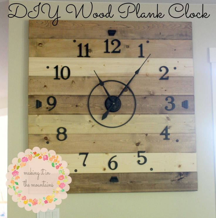 DIY Clock @ making it in the mountains