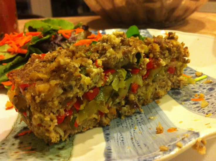 ... zucchini and celery. Who needs meat loaf when u can have this crunchy