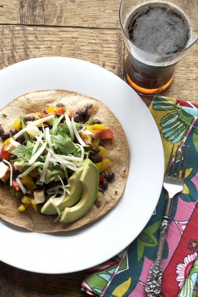 Chicken tostada salad recipe. | Yum Yums | Pinterest