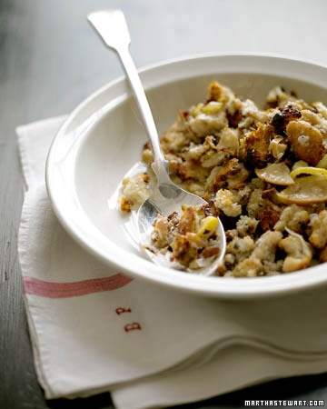 Chestnut and Apple Stuffing | ღThanksgivingღ | Pinterest