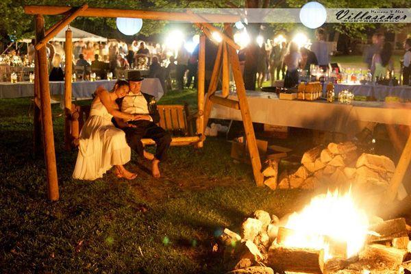Backyard Bonfire Wedding : gorgeous backyard wedding  Real Wedding Inspiration  Pinterest