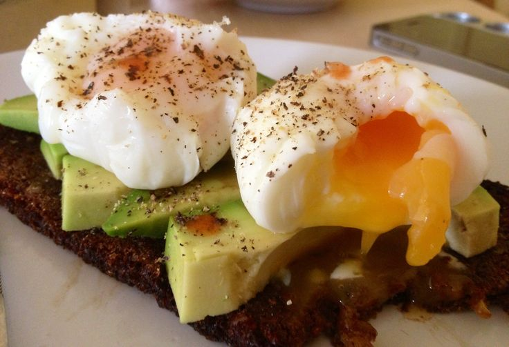 Avocado & Poached Eggs on Rye | Food, Glorious Food | Pinterest