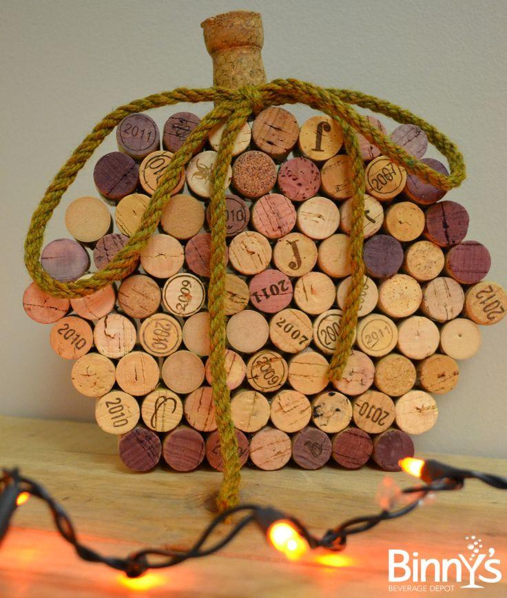 Decorative Wine Cork Pumpkin