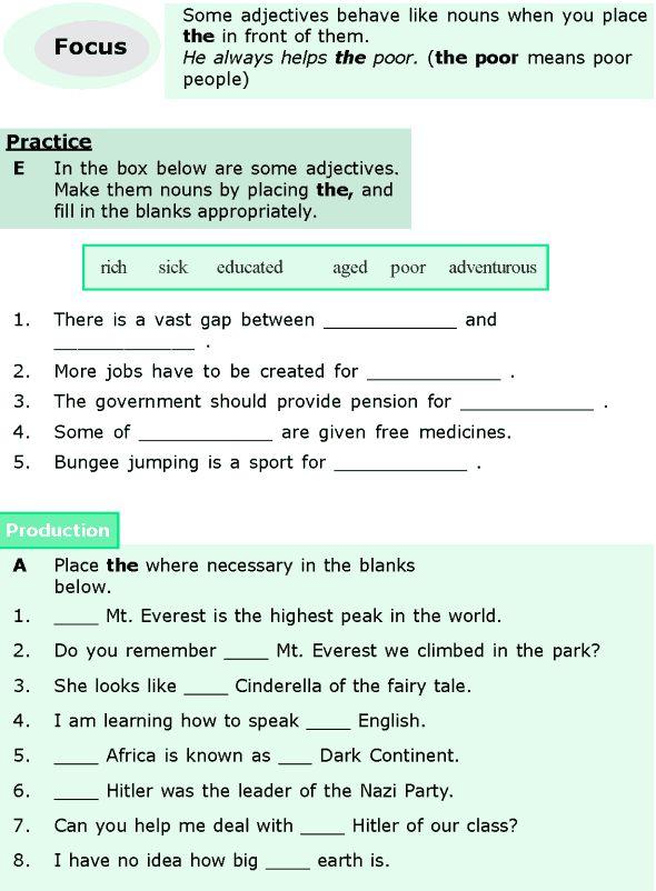 Grade 4 worksheets english grammar