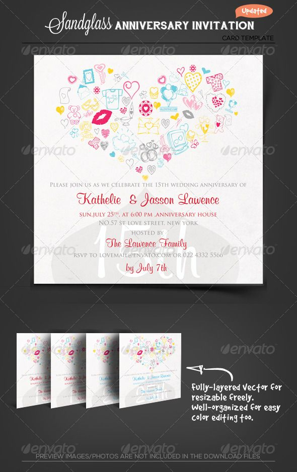 Wedding anniversary flyers templates free stopboris Gallery