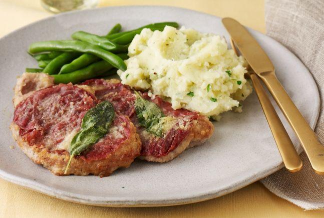 Mashed Potatoes With Fontina And Italian Parsley Recipe — Dishmaps