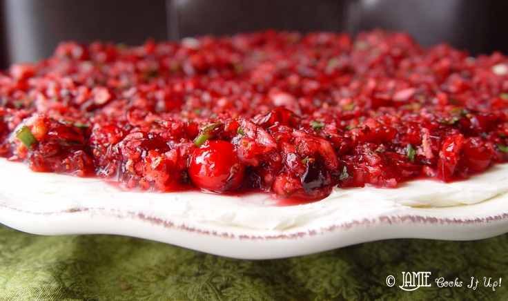 "Cranberry cream cheese ""salsa."" | Berry-licious | Pinterest"