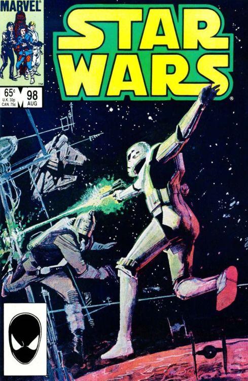 Star Wars #98, August 1985, cover by Bil Sienkiewicz