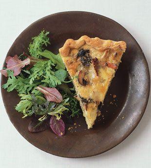 Mushroom and Fontina Quiche | Recipe