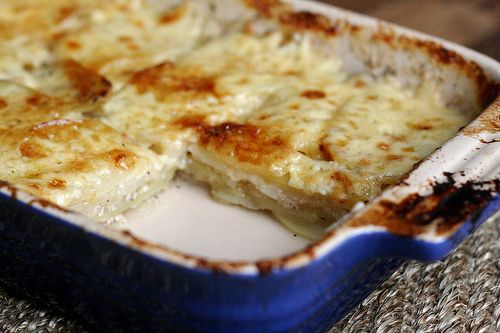 Celery Root-Potato Gratin. Ate this for dinner, delicious!