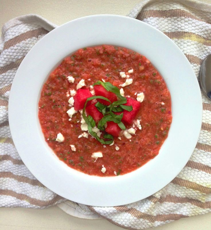 Spicy Watermelon Tomato Gazpacho | Soup for a Cold Rainy Day | Pinter ...