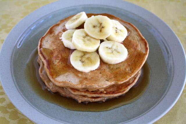 whole wheat banana nut pancakes | Breakfast of Champions | Pinterest