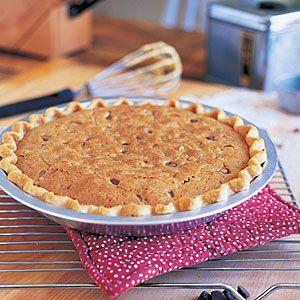 Chocolate Chip Walnut Pie | MyRecipes.com