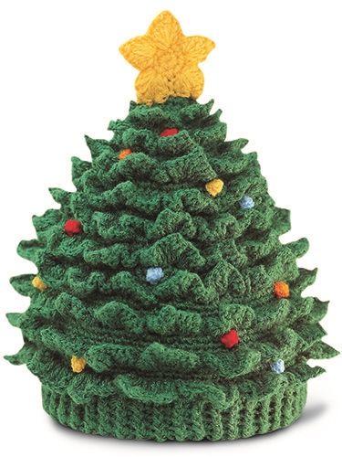 Free Crochet Christmas Tree Hat : Christmas Tree Hat - No pattern Crochet Pinterest