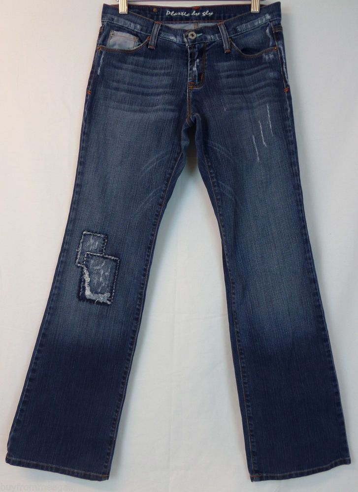 Plastic by Gly Woman Blue Pants 7 28x32 Distressed Jeans Denim USA