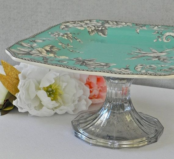 Cake Stand Home Decor : Cake Stand Mercury Glass Cupcake Stand Vintage Wedding ...