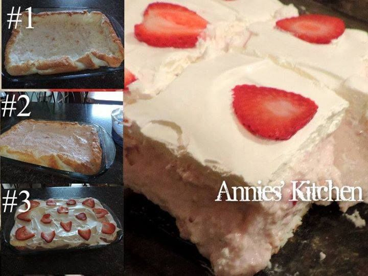 Strawberry Angel Cake recipe dessert | Good Eats | Pinterest