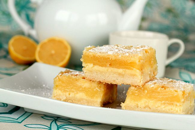 Holiday Lemon Cheesecake Bars - The Kitchen Magpie