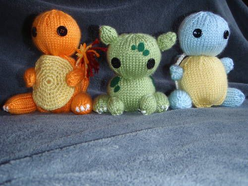 Pokemon Starters - KNITTING Crafts Pinterest
