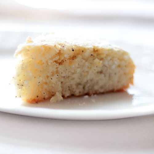 vegan cardamon-scented coconut cake... going to test this during the ...