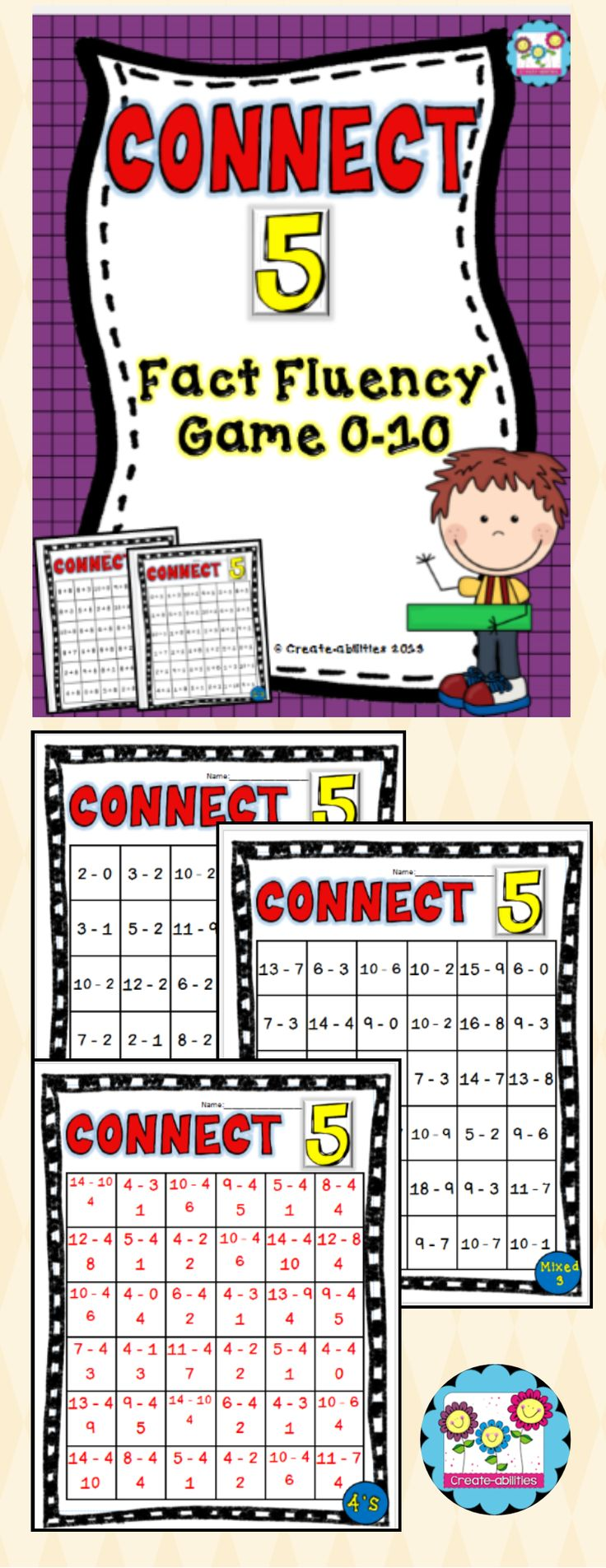 Nerdy image throughout math fact fluency games printable