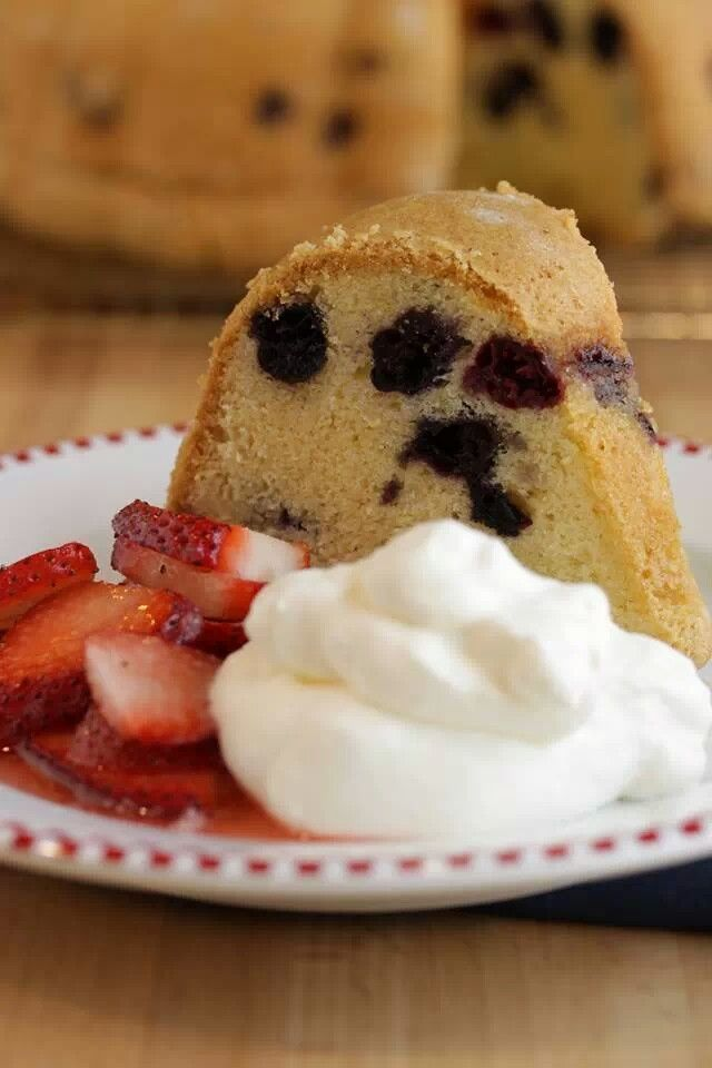Blueberry pound cake | Favorite Recipes | Pinterest