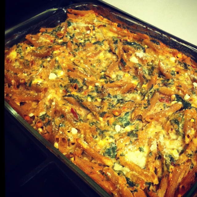 Baked ricotta and spinach pasta | Yummmyy | Pinterest