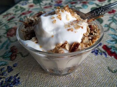 ... maple pecan granola parfait recipe dishmaps blueberry and maple pecan