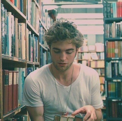 """Robert Pattinson-""""If you find a girl who reads, keep her close. When you find her up at 2am clutching a book to her chest and weeping, make her a cup of tea and hold her. You may lose her for a couple of hours but she will always come back to you. She'll talk as if the characters in the book are real, because for a while, they always are...You deserve a girl who can give you the most colourful life imaginable. If you want the world and the worlds beyond it, date a girl who reads.""""Not his biggest fan but this..❤"""