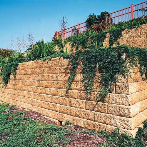 Landscaping Stones Windsor : Anchor windsor retaining wall stone patio