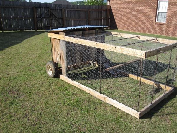 simple chicken tractor green thumb pinterest