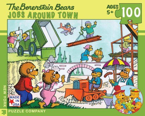 Berenstain bears jobs around town 100 piece puzzle by new york puzzle