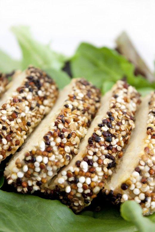 Quinoa Crusted Tempeh