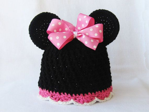CROCHET PATTERN Minnie Mouse Hat with BONUS hair bow ...