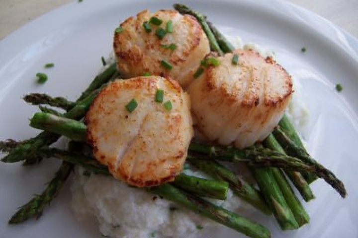 Scallops with Asparagus | Recipes | Pinterest