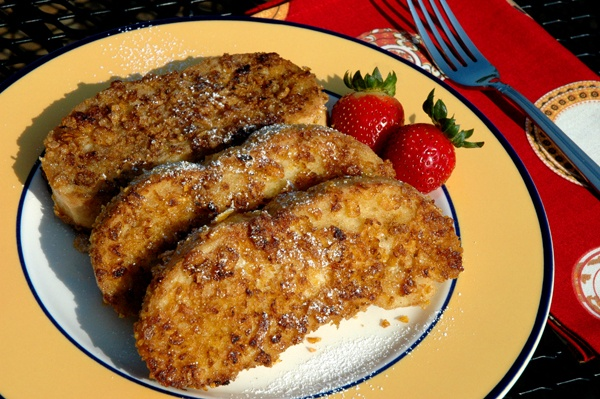 Crunchy French Toast   Cooking and Eating   Pinterest