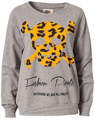 Fashion Pirates Sweater - Black Book - Grå melange - Tröjor - Kläder - NELLY.COM