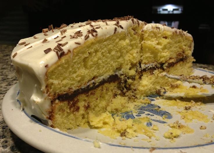 Orange Cake with Dark Chocolate and Cream Cheese Frosting