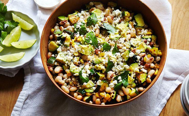 Zucchini, Corn & Cotija Salad - Recipe from Clementine Daily