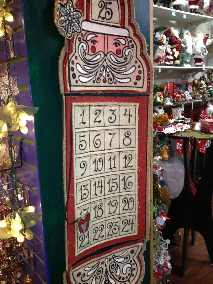 Countdown to Christmas wall hanging