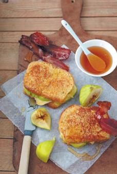 ... Home Entertaining | Stuffed Brie and fig French toast with maple bacon