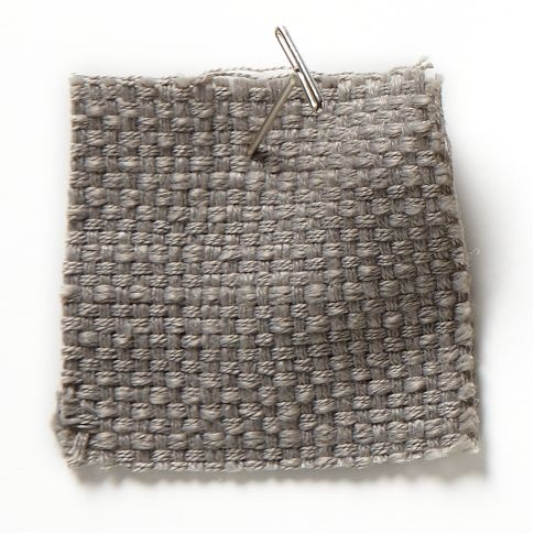 Upholstery Fabric By The Yard, Basketweave, Putty Gray