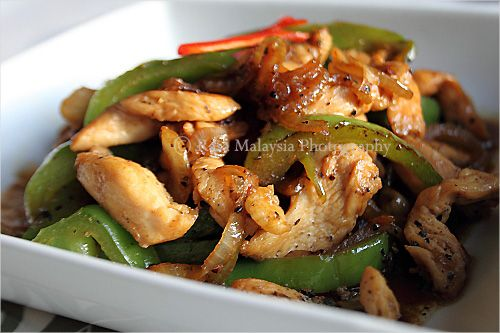 Black Pepper Chicken Recipe--I cooked this today with red pepper and ...