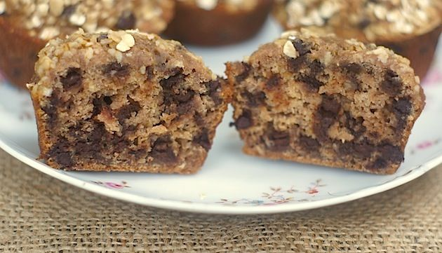 oatmeal choc chip cookie muffins