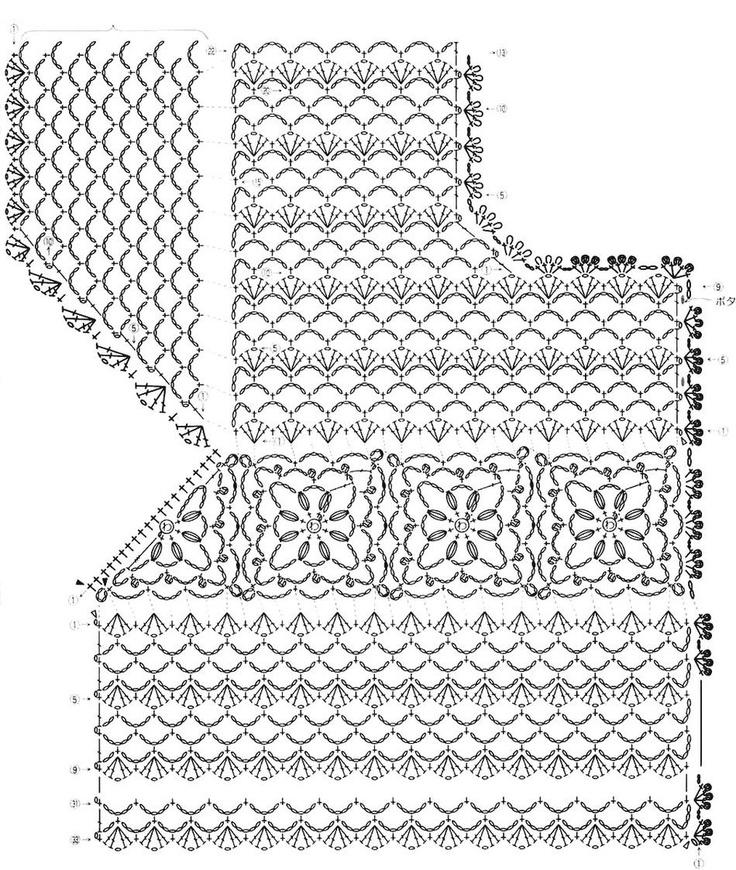 Crochet Baby Sweater Diagram : Pin by Hermila Prado on Crochet para Llevar Pinterest