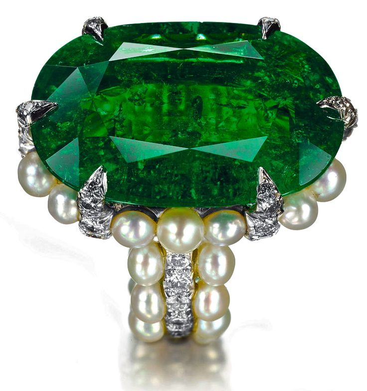 emerald pearl ring green forest dk