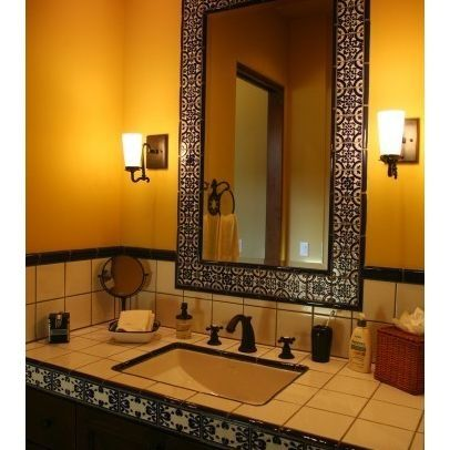 Pin by ann benefiel on spanish style decor pinterest for Bathroom in spanish