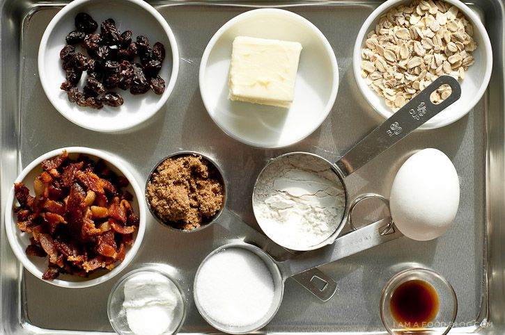 Bacon Oatmeal Raisin Cookie | Recipe