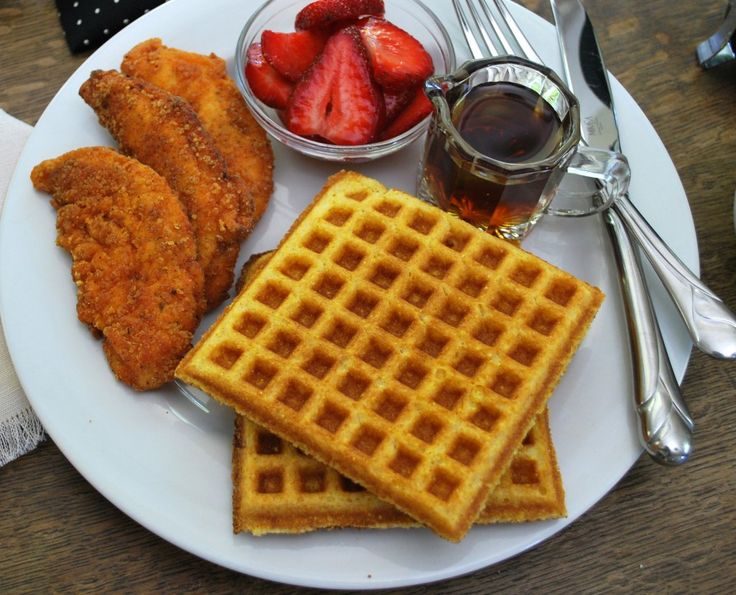 Cornbread Waffles And Cornflake Chicken (GF) Recipe — Dishmaps
