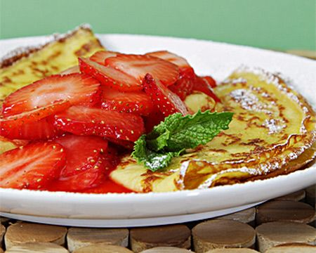 Crepes With Strawberry And Orange Compote Recipe — Dishmaps